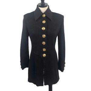 St John Collection Black Military Blazer Jacket